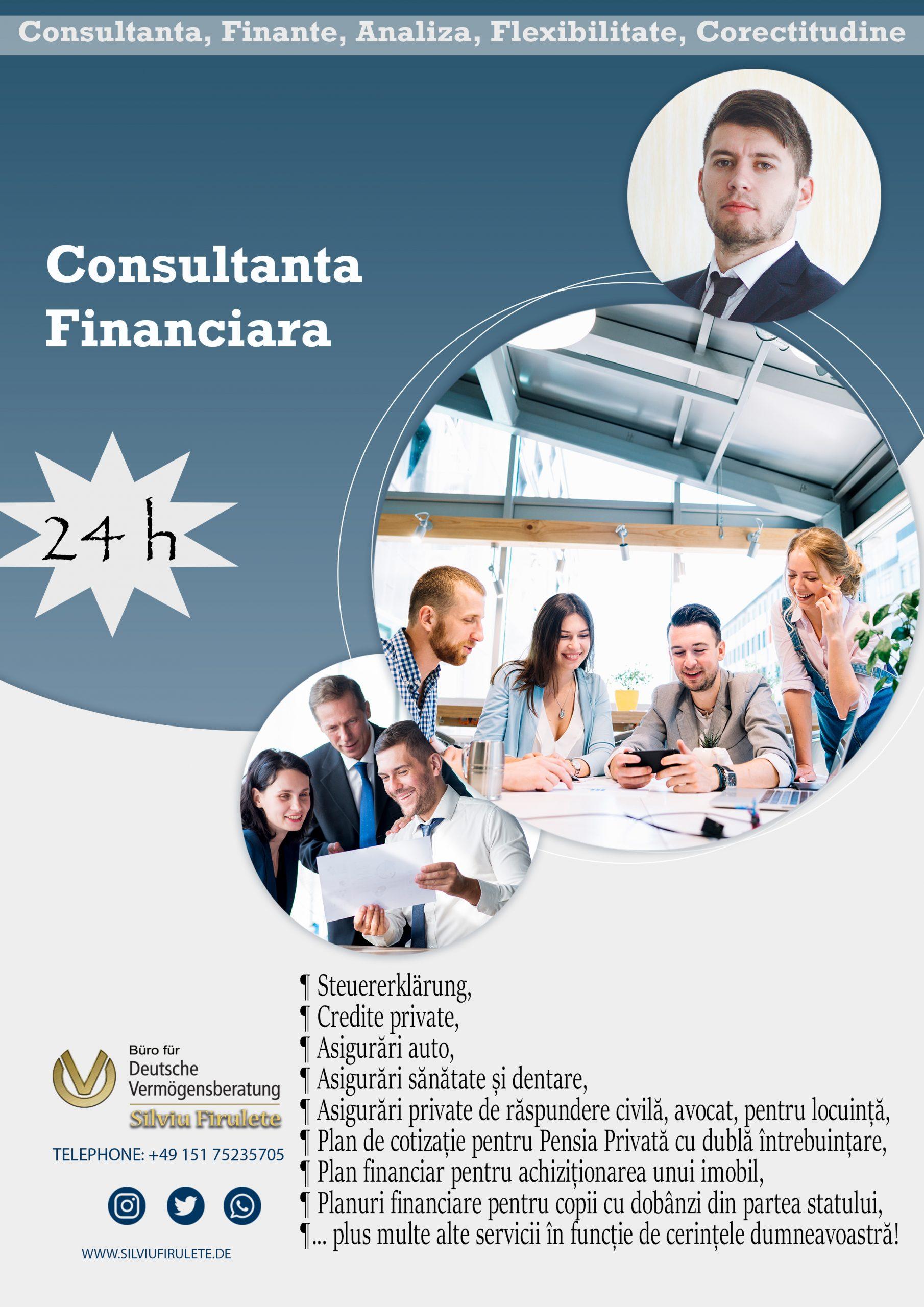 Servicii de consultanță financiară